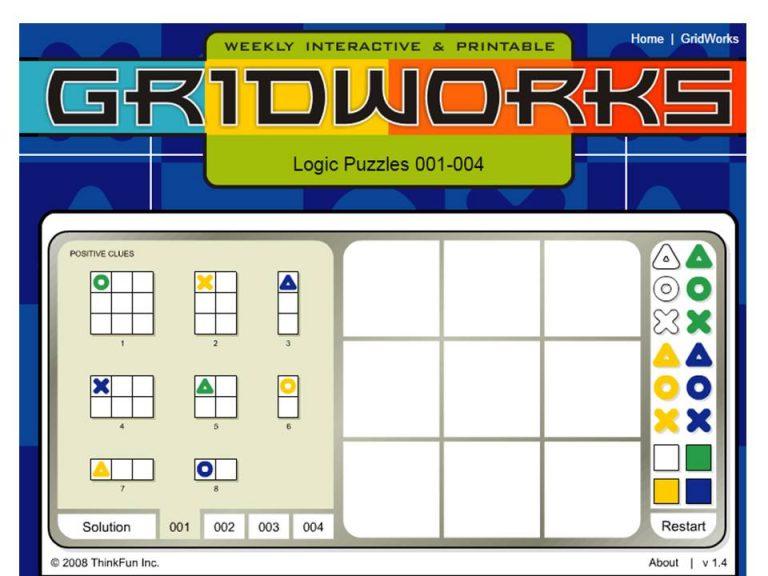 Головоломка GridWorks